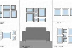 схема размещения фото в интерьере