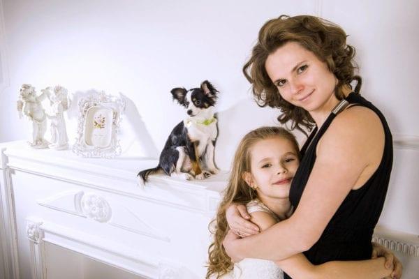 Семейная фотосессия мать и дочь