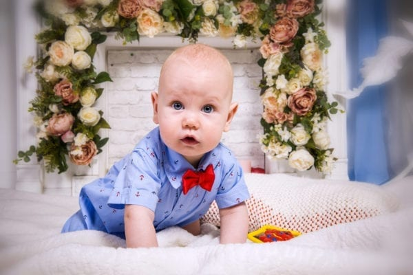 Студийная фотосессия новорожденного