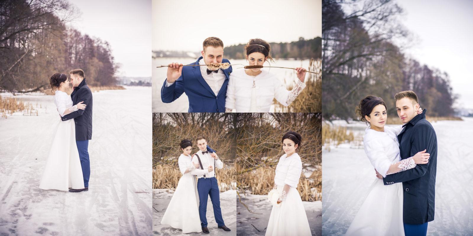 Фотокнига свадебная зимой
