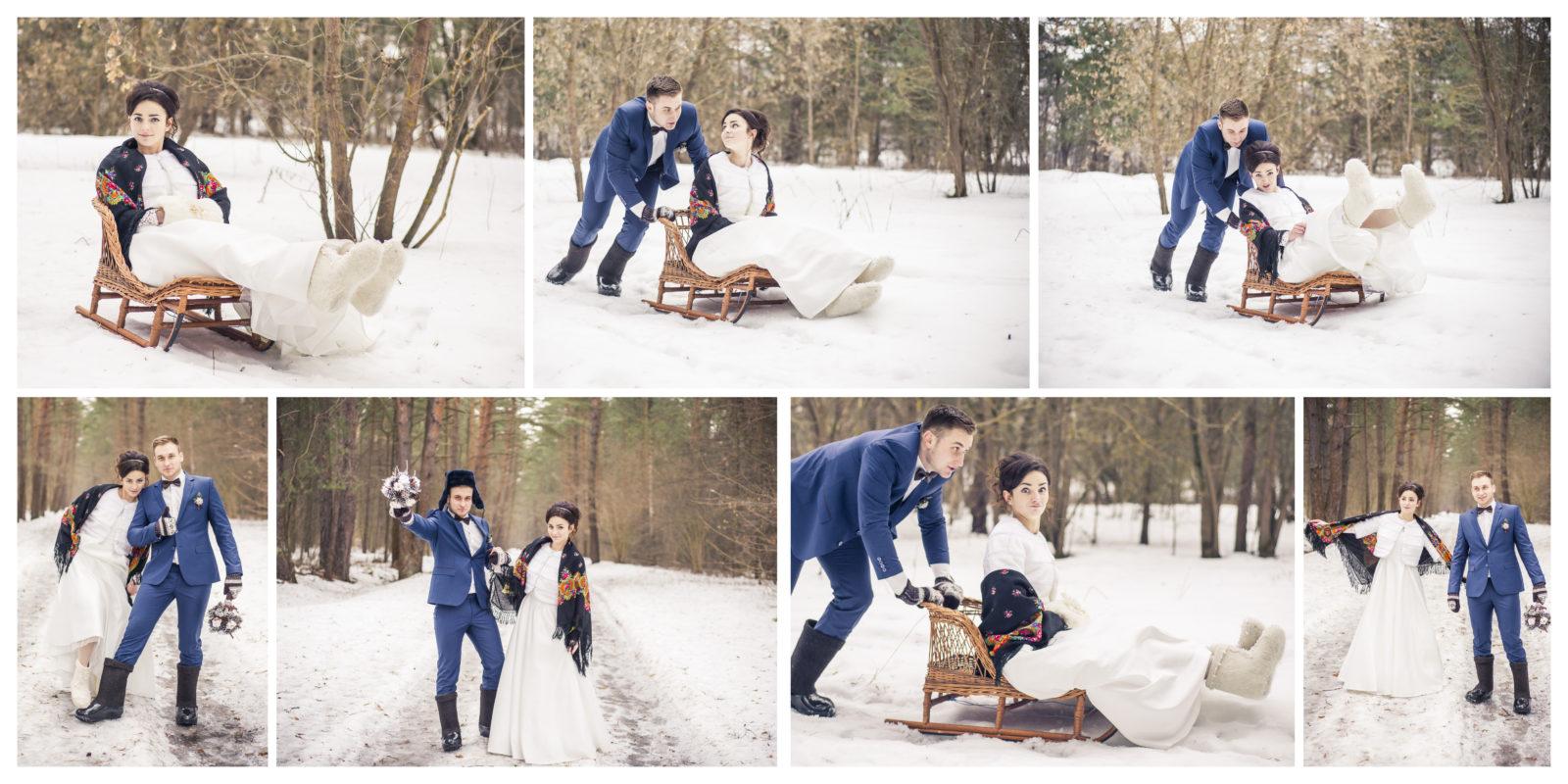 Зимняя свадьба фотокнига
