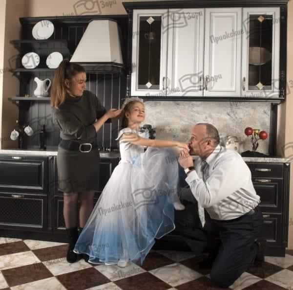 Семейная фотосессия на кухне